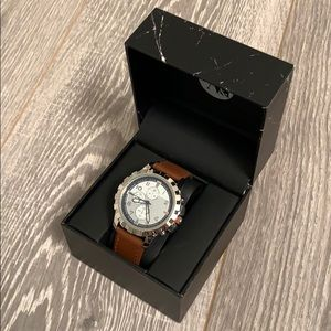 A&I Brown and Silver Men's Watch